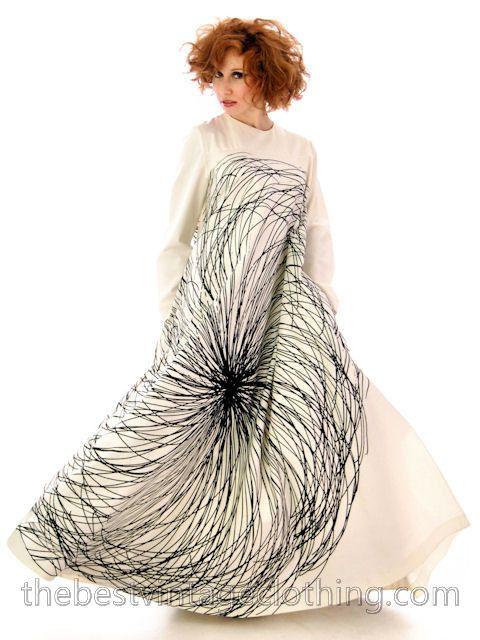 Vintage Vuokko A Line Graphic Gown Cotton 1970s Bust 38 – The Best Vintage Clothing