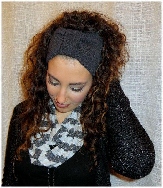 Fasce per capelli - Fascia per capelli Turbante Jersey Lana - un prodotto unico di Maiblume-fiore-di-maggio su DaWanda