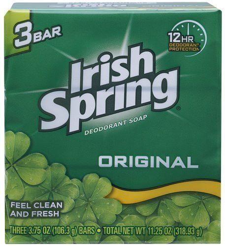Irish Spring, Original, Deodorant Bar Soap, 3 Count, 3.75 Oz Package (Pack of 4)