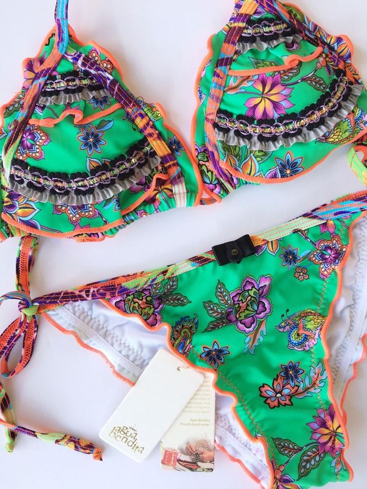 Agua Bendita Swimwear Bikini Set Size M Bathing Suit Colombia  | eBay