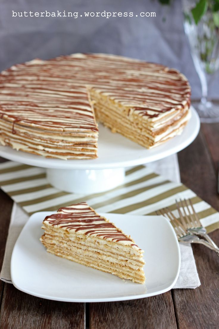 Polish Icebox Cake (Miodowiec). You know, for when you have 8 hours to devote to a cake. Yum.