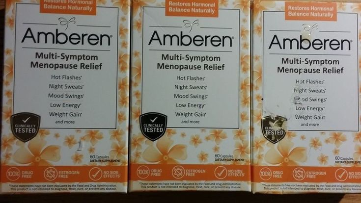 3x AMBEREN~Healthy Menopause Relief,Hot Flash,3 Month,180 Capsules*NIB*US SELLER #Amberen