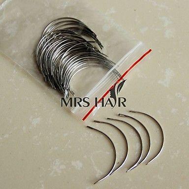 macchina c stile tesse / trama ago 50pcs un sacco di estensioni dei capelli accessori strumento vergini strumenti di capelli brasiliani – EUR € 7.60