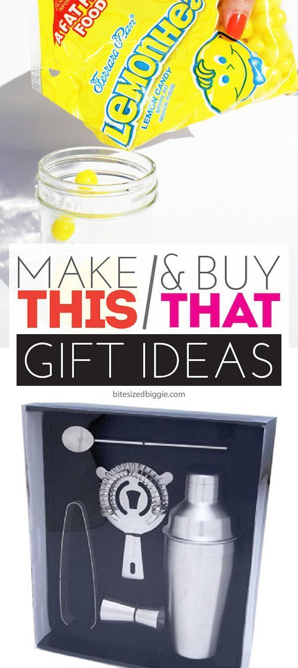 Make This & Buy That gift idea - martini shaker + Lemonhead vodka!