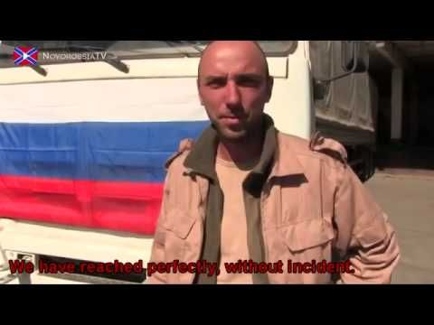 War in Ukraine The third convoy in Donetsk