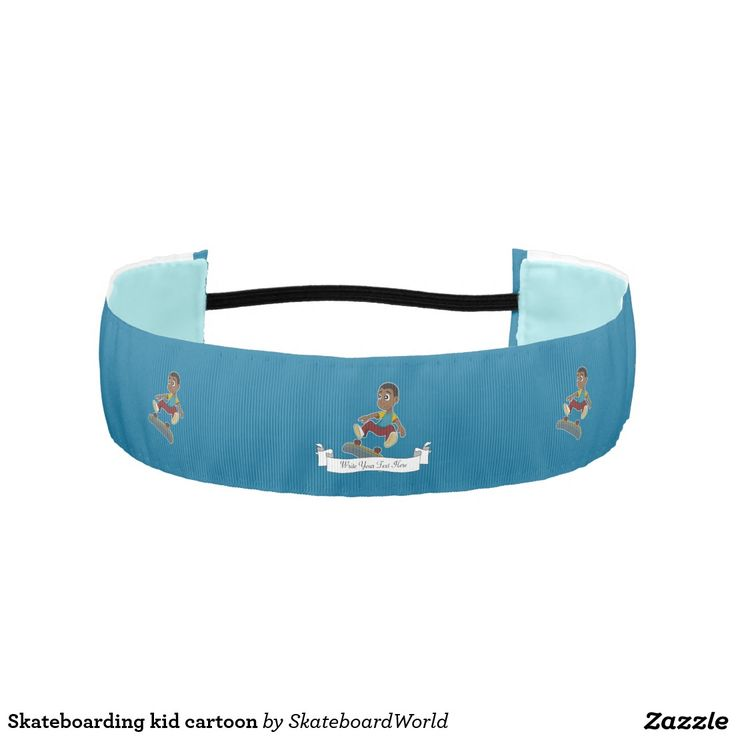 Skateboarding kid cartoon athletic headbands