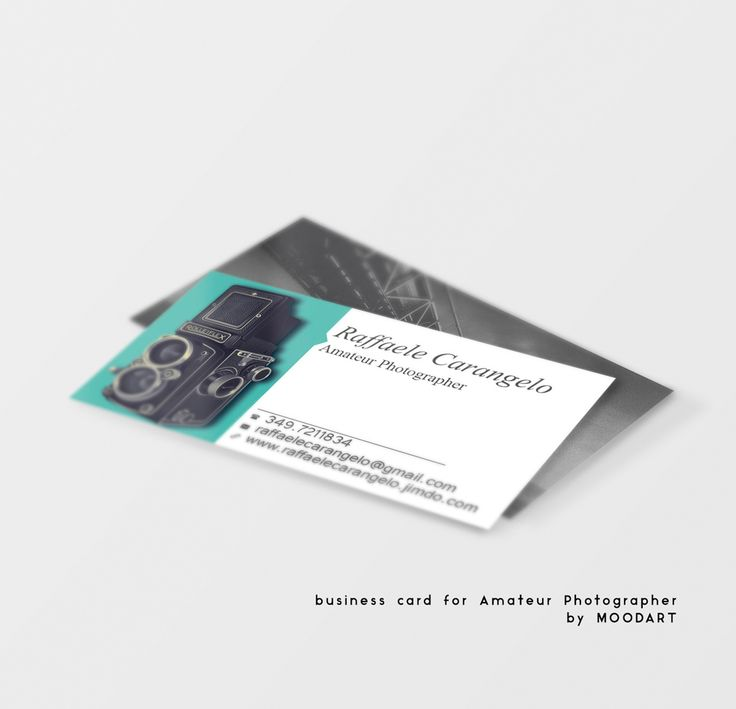 business card for Amateur Photographer