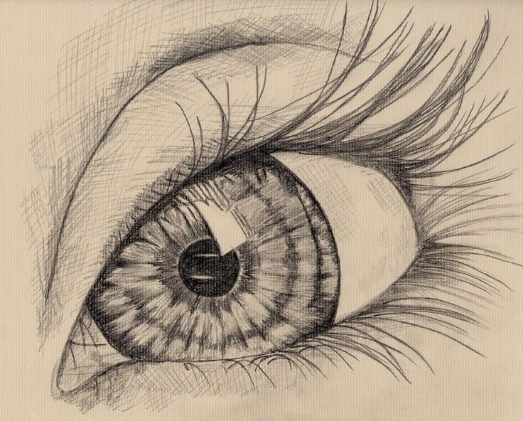 an eye, pencil drawing