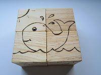 Tutorials Crafts Projects Kids Children Handmade: Handmade Wooden Block Puzzle: Adorable Animals