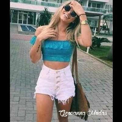 Shorts Jeans Cintura Alta Hot Pant Curto Panicat Juju - R$ 69,99 no MercadoLivre