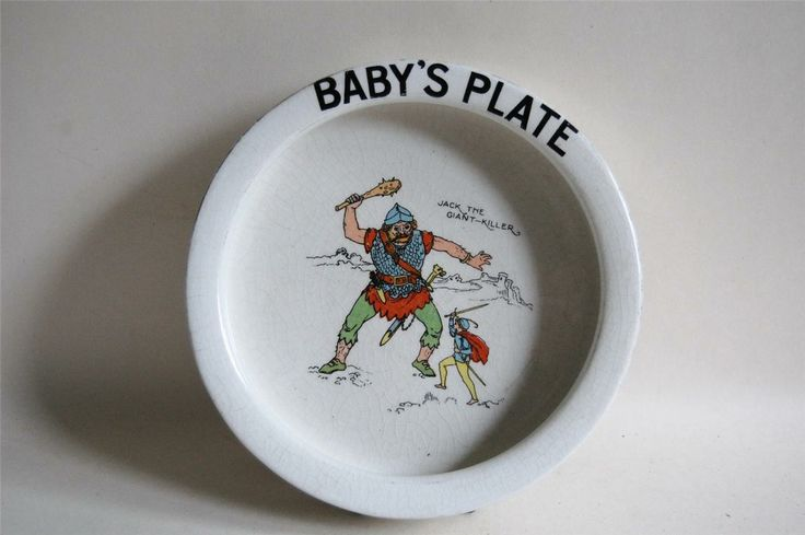 T.G.Green - One of many Baby's Plates produced with different transfer prints. Here we have 'Jack the Giant Killer'