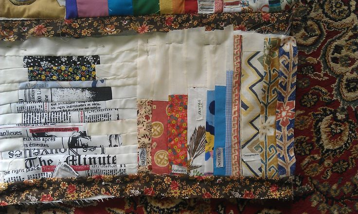 Book quilt newspaper stack