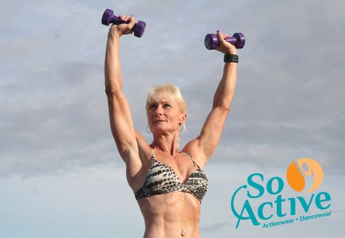 Breathe easy in this wild animal print So Active sports bra worn by Fitness Model Debbie Keen