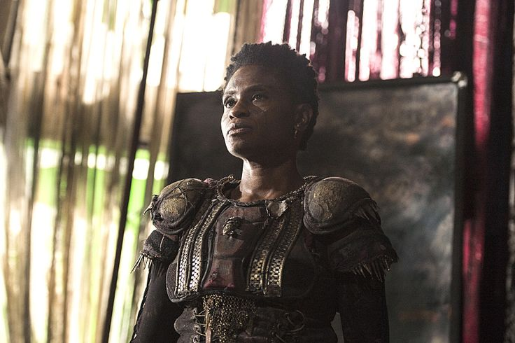 "Adina Porter as Indra in ""The 100"". Also seen in American Horror Story."