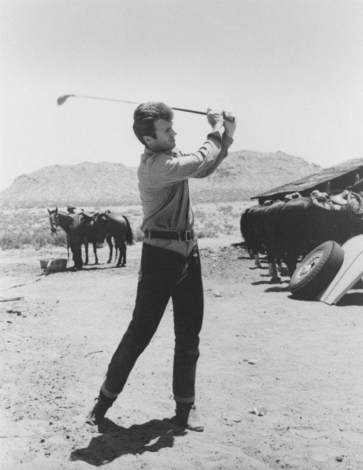 clint eastwood golfing