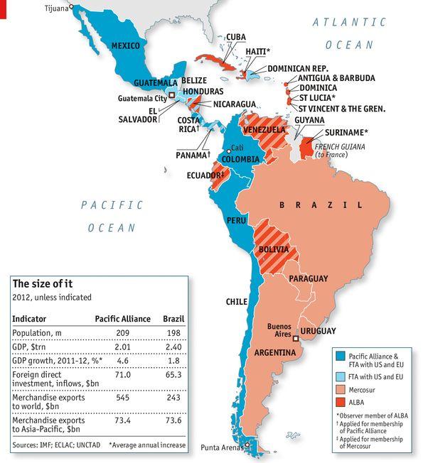 Latin America ALBA AdP Pacific Alliance Mercosur Mercosul