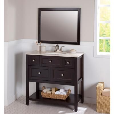 399 St Paul Ashland 36 Inch Combo With Stone Effects Vanity Top And Wall