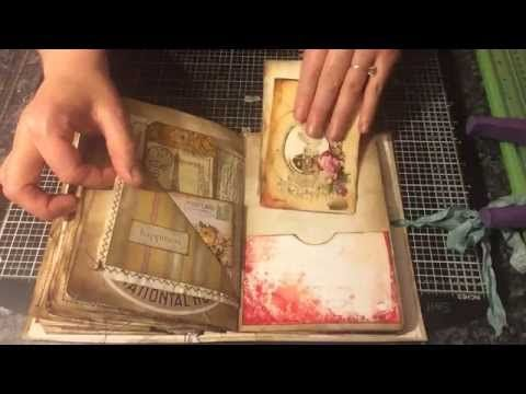 (88) Tim holtz Crowded Junk Journal - Start to finish - YouTube | video | Pinterest | Junk Journal, Tim Holtz and Journals