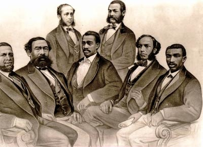 The first black politicians elected to office were