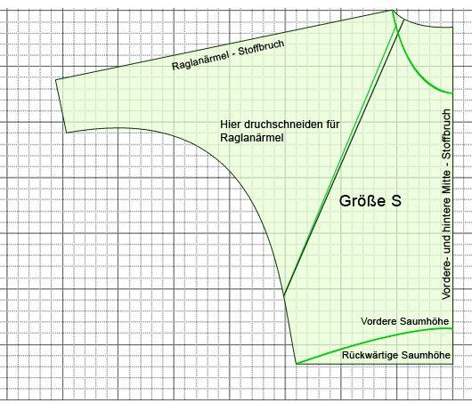oversize-shirt pattern // by http://www.schneidern-naehen.de