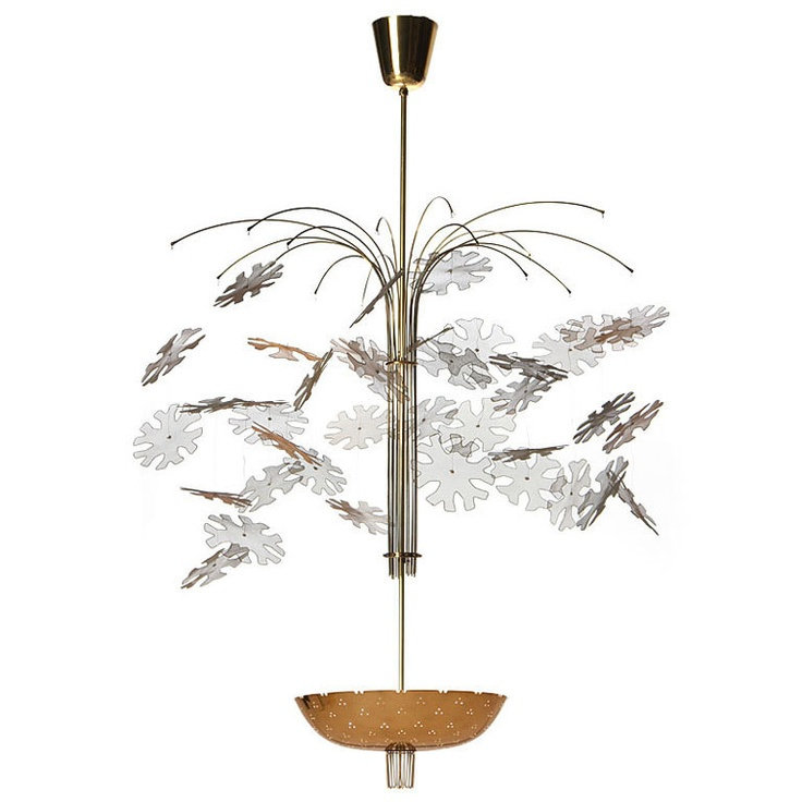 1950's Snowflake Chandelier By Paavo Tynell