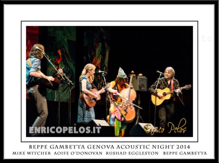 """Il famoso chitarrista e cantante genovese Beppe Gambetta, ogni anno porta a Genova, per le sue Acoustic Nights: ieri sera lo abbiamo ascoltato con Aoife O'Donovan  Rushad Eggleston e Mike Witcher . Un momento gradito è stata l'esecuzione di """"Turn Turn Turn"""" di Pete Seeger resa famosa ai tempi dei Beatles dai Byrds come raccontiamo a pagina 36 del nostro libro """"MEMORIE BEATLESIANE e dintorni"""".  - colori  http://goo.gl/0gp2FI - colori e BN http://goo.gl/1dmYNS - eBook http://goo.gl/vLXbiA"""