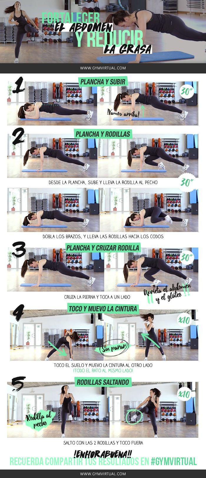 Hoy os traigo una rutina paso a paso para fortalecer el abdomen y reducir la grasa. Son solo 5 ejercicios que podéis hacer en menos de 10 minutos.