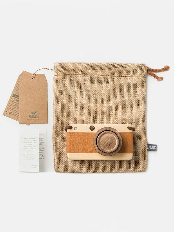 Wooden camera by Fanny & Alexander