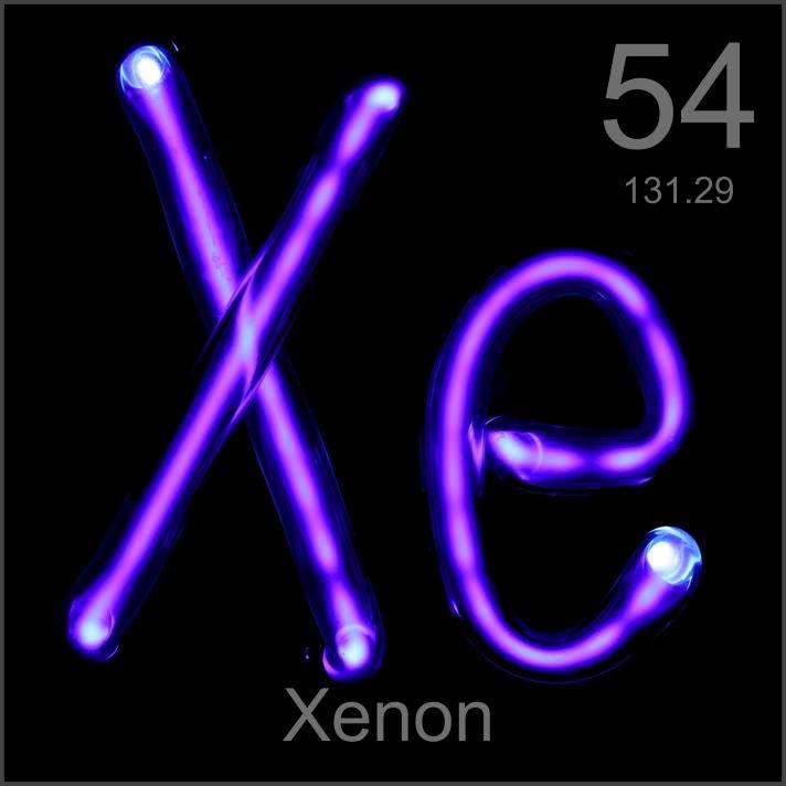 Xenon Elemento quimico - 54 Xe