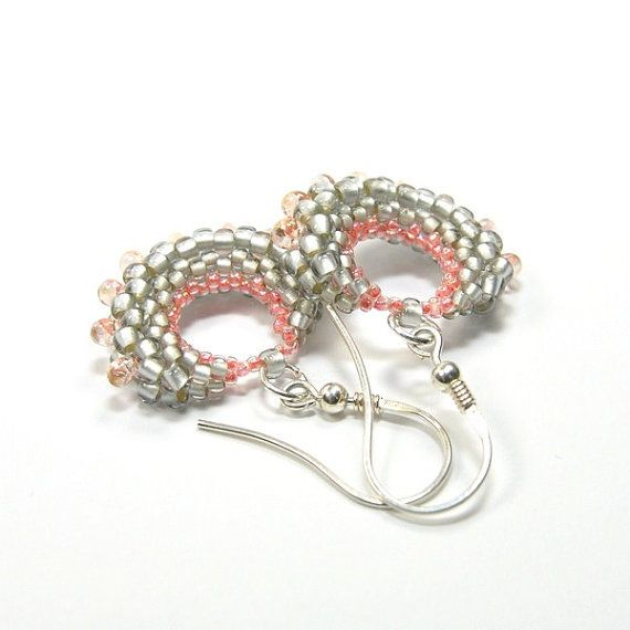 Beadwork earrings. Beaded earrings. Seed bead by ArtStyleBizu