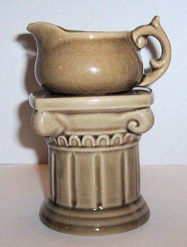 """ABC Products"""" - Vintage Design Ceramic- Room Fragrance - Grecian Columm - Teapot Oil Warmer (Place a Tealight Candle in the Columm Base - Heats the Oil in the Teapot To Release Fragrance In The Room) by dist by e & h company. $12.47. Columm Size: 3¼ in square x 5½ in high - Teapot size: 4 in x 2¾ in x 2 in high  (Tealight candle and oil not included. Teapot and columm made of ceramic tan finish - Teapot can be removed from the column. add a few drops of perfume oil to..."""