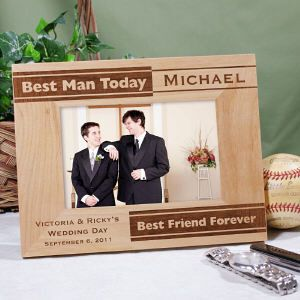 Personalized Best Man Picture Frame #weddings #bestman #gifts