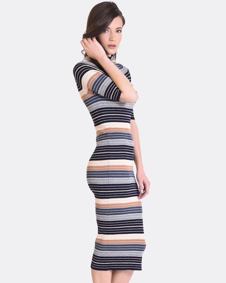 Paula Striped Knit Dress, Forcast $34.30    http://www.shopyou.com.au/ #womensfashion #shopyoustyle