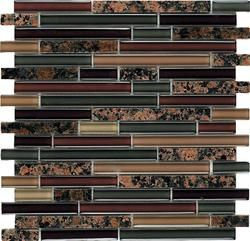 Epoch Tile English Brown Random Glass Mosaic Wall Tile Backsplash Tile Menards