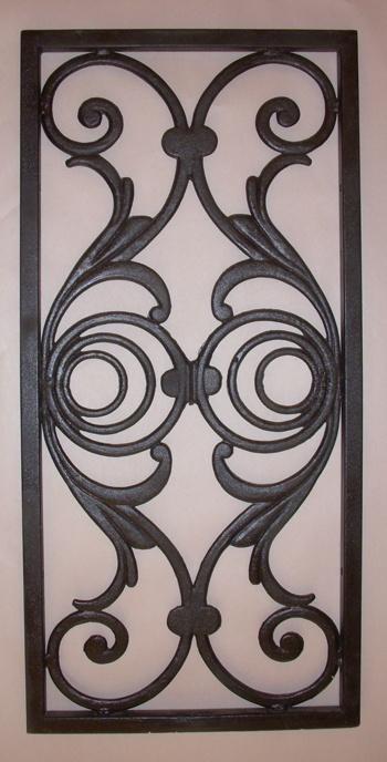 Wrought Iron for shutter repurpose