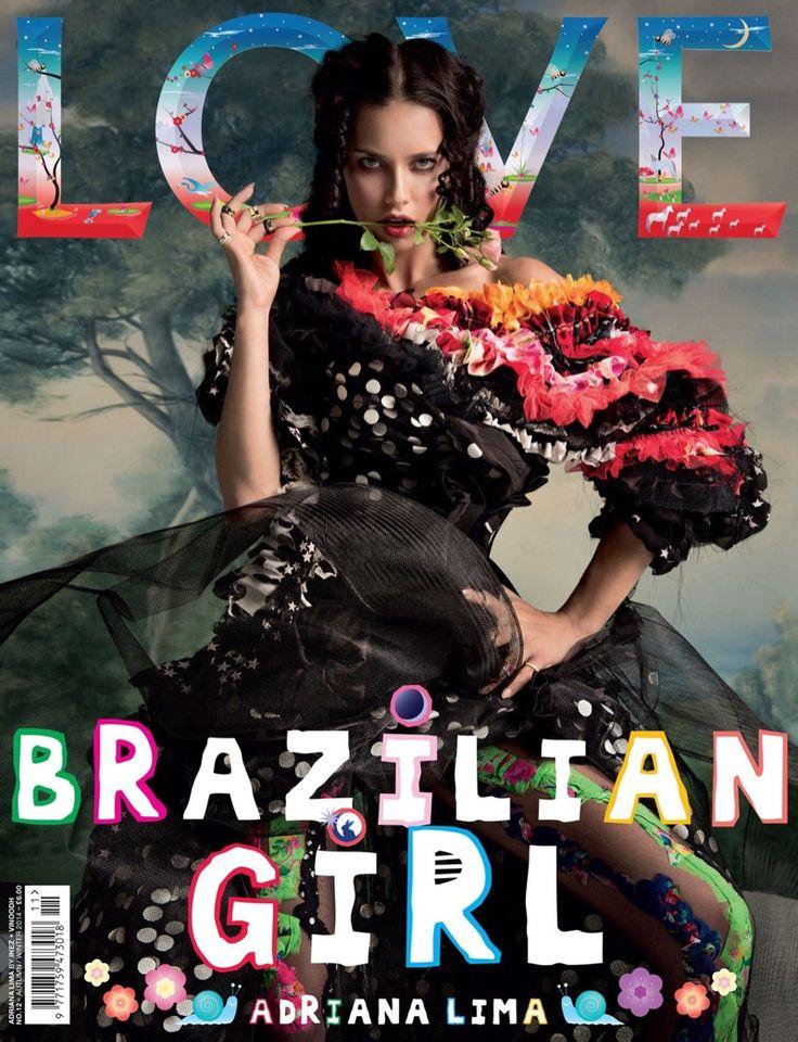 Adriana Lima for LOVE MAGAZINE, fall-winter 2014