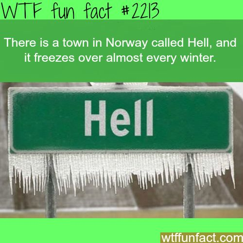 Hell, Norway weather - WTF fun facts