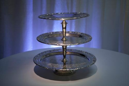 Square Pewter Cake Stand