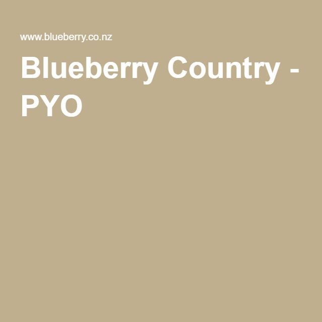 Blueberry Country - PYO