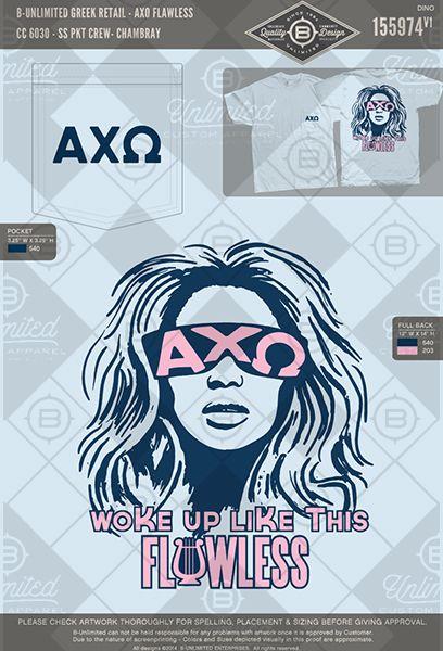 B-Unlimited Greek Retail AXO Flawless #BUnlimited #BUonYOU #CustomGreekApparel…