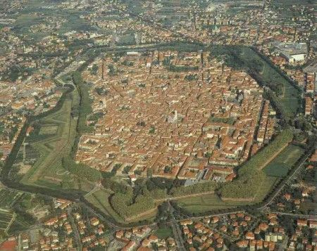 Lucca from the sky
