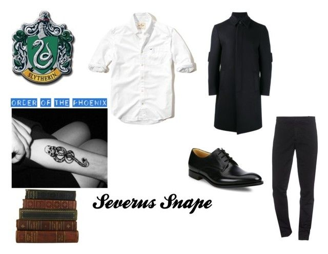 """""""severus snape"""" by marauderslife on Polyvore featuring Hollister Co., Fendi, Kenzo and Church's"""