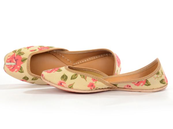 Floral printed indian wedding juttis