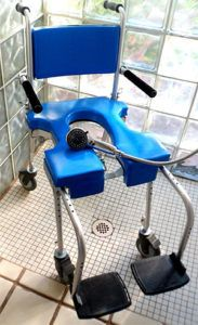 A PORTABLE COMMODE, SHOWER WHEELCHAIR TO SAVE THE DAY!