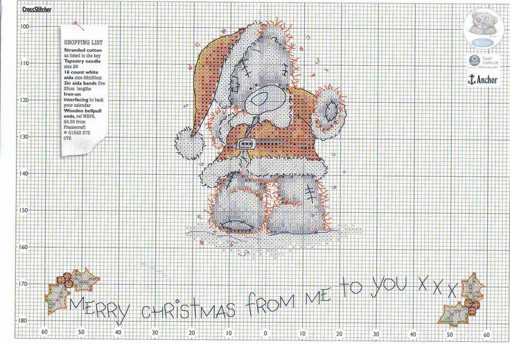 Tatty Teddy santa pattern