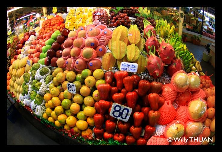Thai fruits at the Phuket Market.
