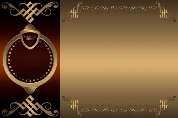 In Same Serie With 10486255 Decorative Frame And Banner Poster Background Design Golden Background Certificate Design Template