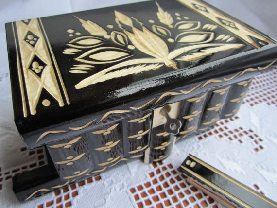 Transylvania's Intelligence Magic Puzzle Wooden Secret by kalotart, $56.00    Card box? Love these!!: Box Compartment, 56 00 Card, Card Boxes