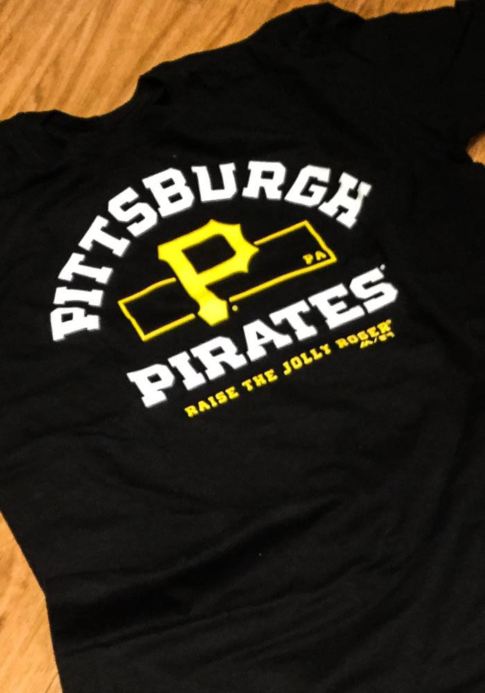 meet 3aa47 0ce7a Majestic Pittsburgh Pirates Mens Black Primary Objective ...
