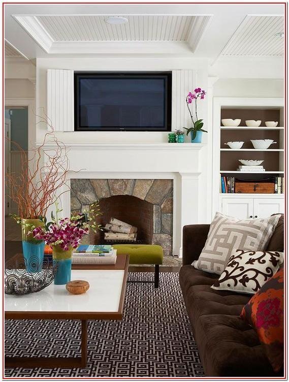 Living Room Mantel Decor With Tv Home Home Living Room Home Decor